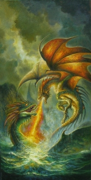 Dragon vs kraken