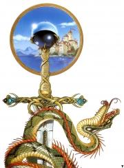 The slain serpent