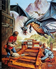 Dragon and catapult