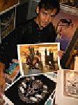 Ciruelo mit zwei seiner neuen Bilder