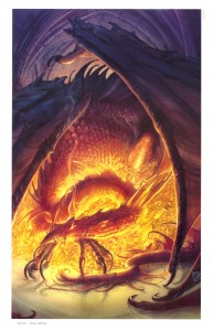 John Howe Smaug the golden