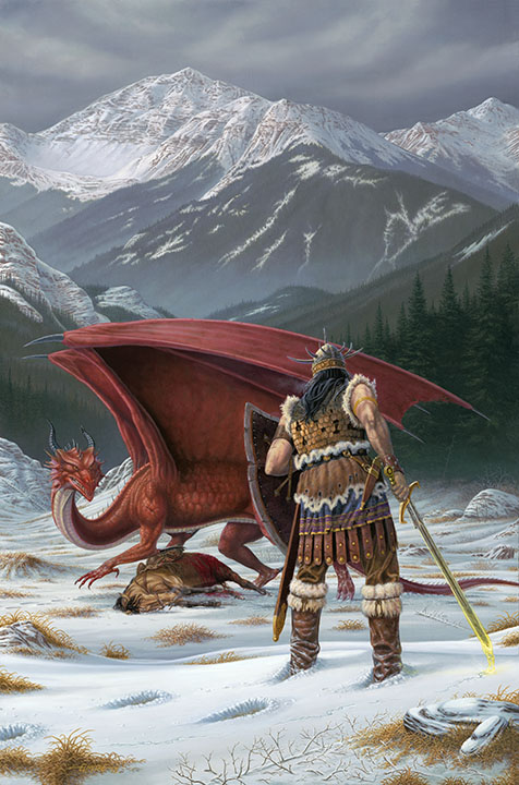 "Die Coverillustration für sein Buch ""The complete art of Larry Elmore"""